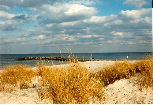 Strandstimmung im Herbst und Winter