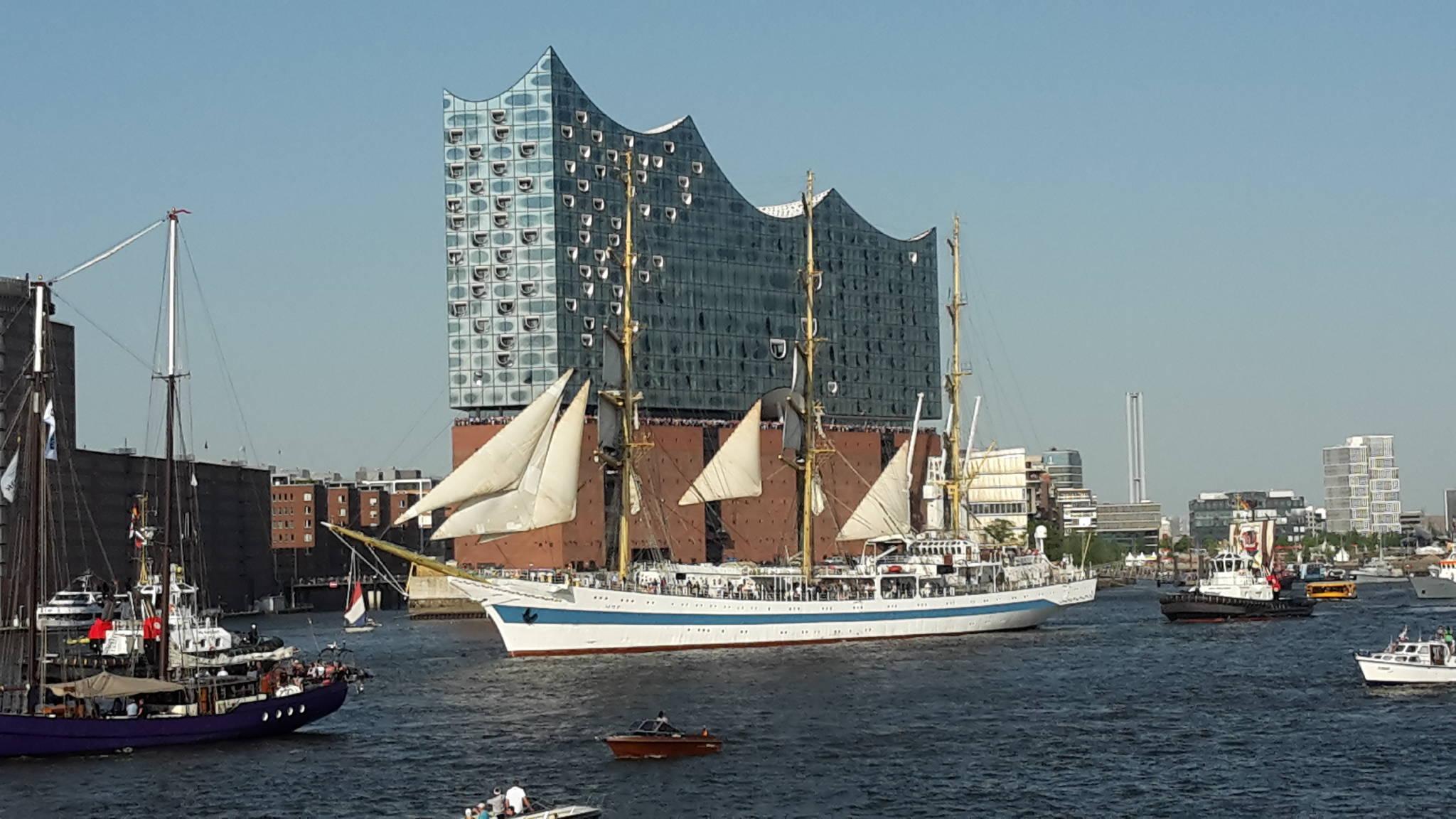 Cuxhaven mit der Kugel Bake