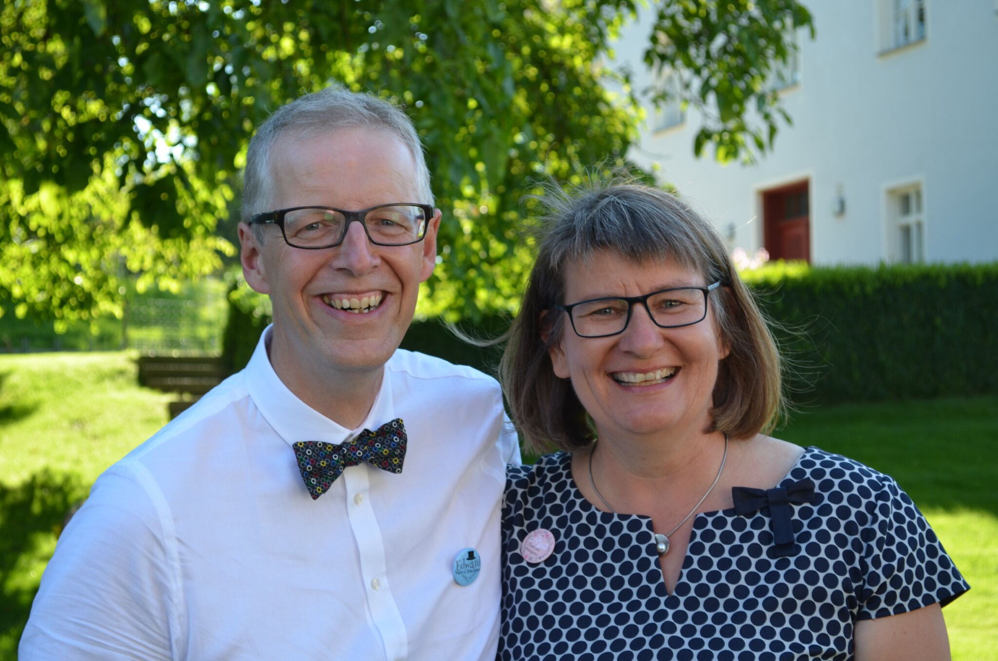 Edward und Anja Morris mit Sweep
