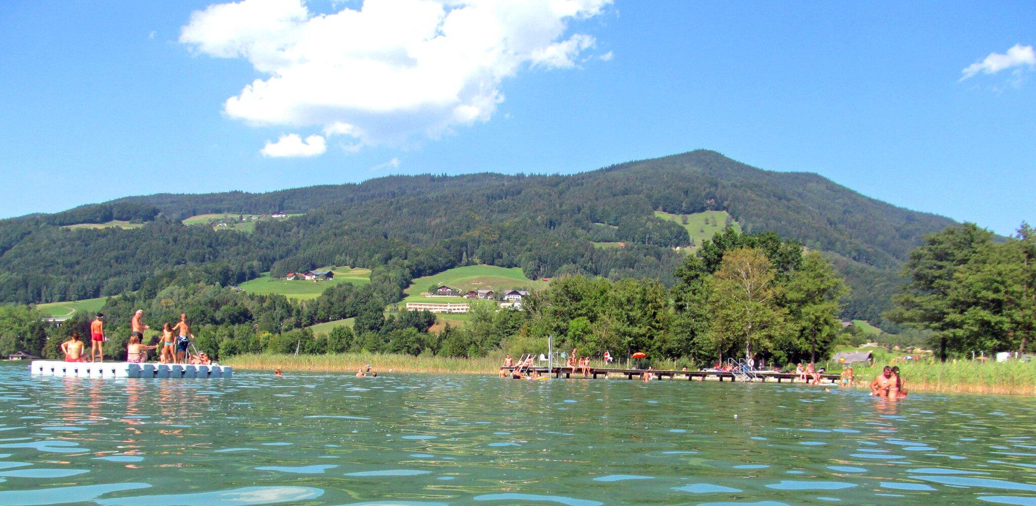 Badeplatz im Sommer