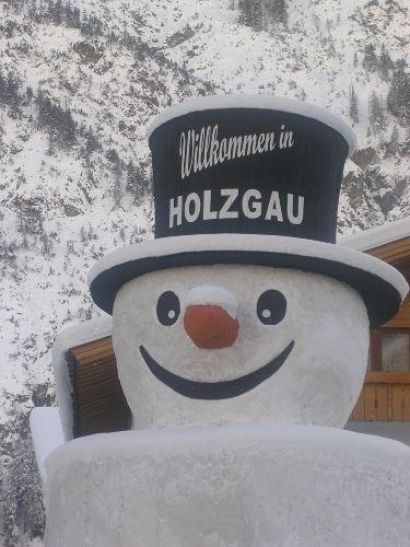 """Das """"Wahrzeichen"""" von Holzgau im Winter"""