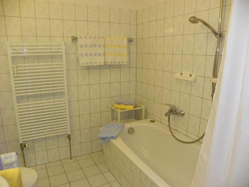 Wannenbad, Dusche, WC und Handtuchwärmer