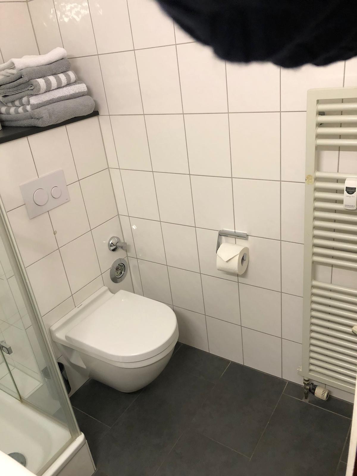 Blick in das frisch renovierte Bad