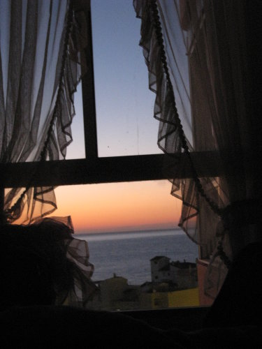 Sonnenaufgang vom Schlafzimmer
