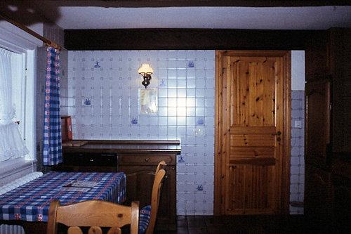 Wohnküche, eingebaute Spülmaschine