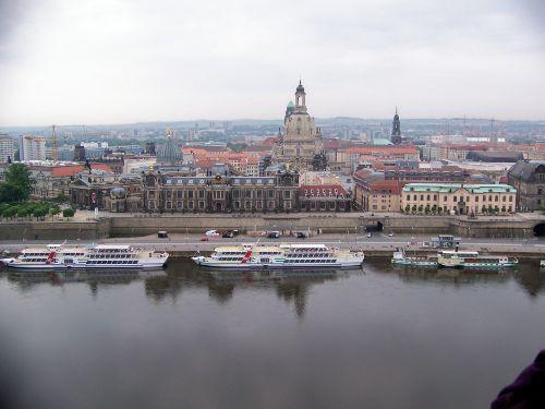 Dresden vom Ballon aus gesehen