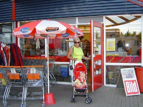 Supermarkt auf Anlage