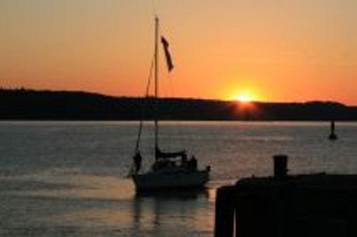 Sonnenuntergang an der Flensburger Förde