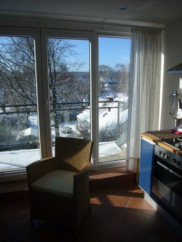 Blick über den Balkon vom Thingplatz