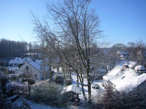 Blick vom Balkon im Winter 2009
