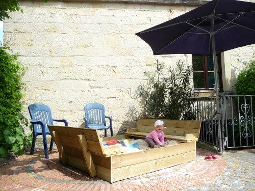 Der Sandkasten für die kleinen Gäste