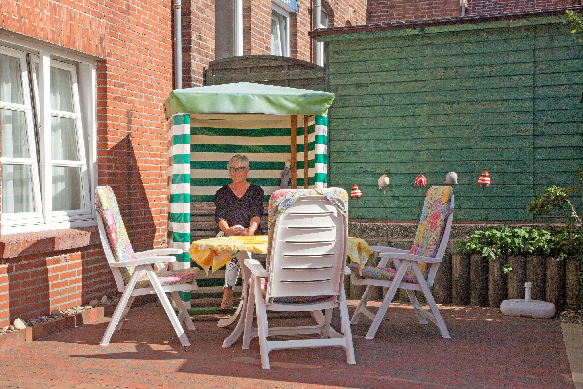 Terrasse für die 90 qm Wohnung