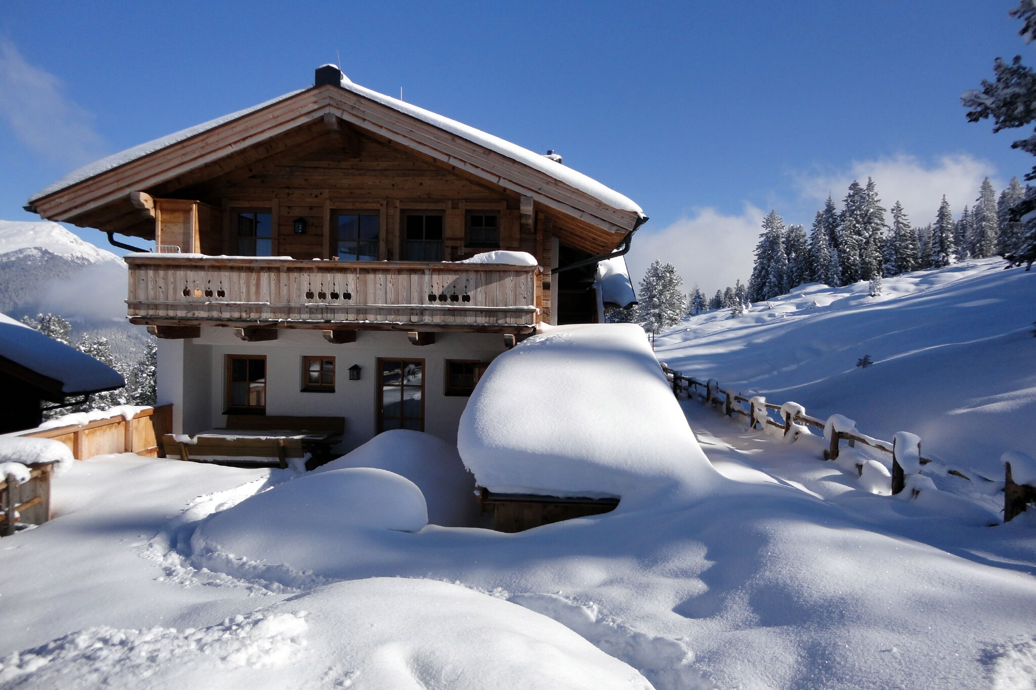 Skihütte Lang im Sommer