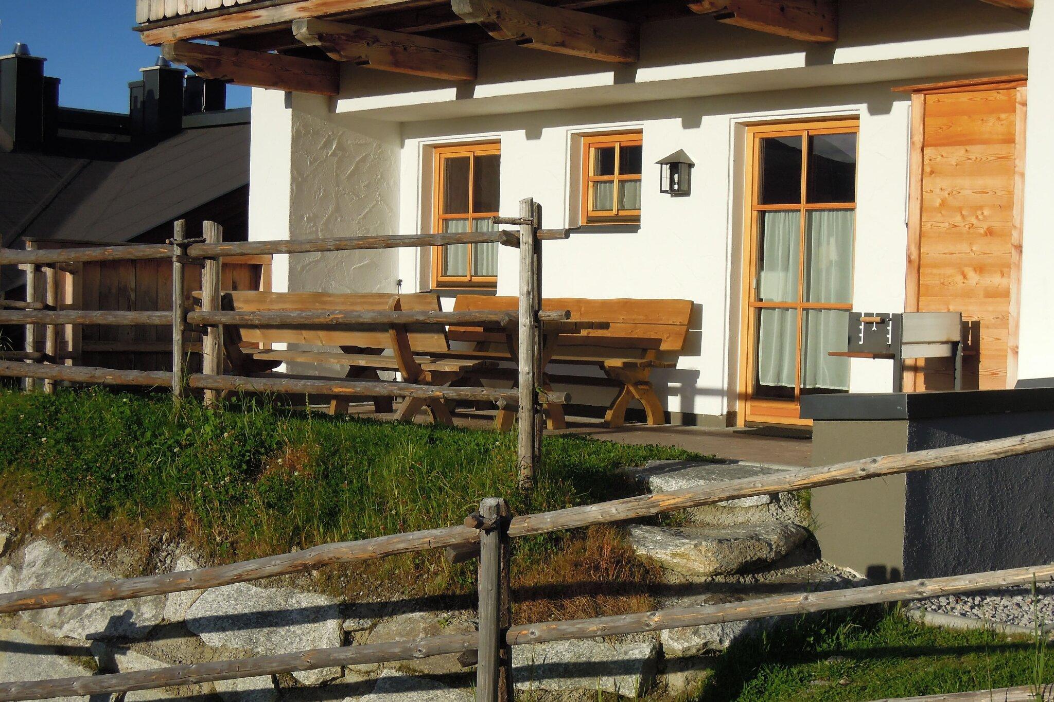 kleine Terrasse der Ferienwohnung