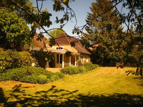Blick vom Garten auf Ferienhaus