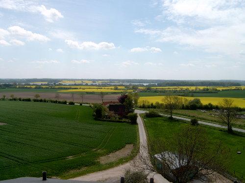 Blick vom Hof über die Felder zur Schlei