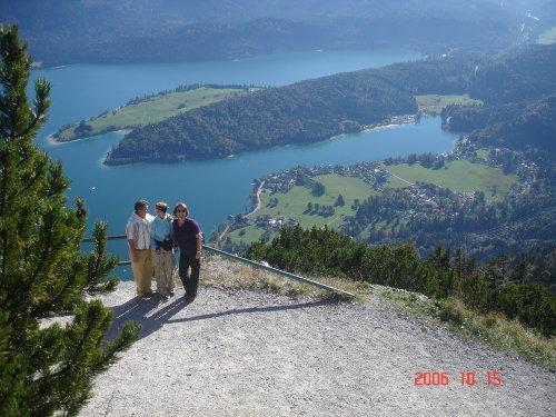 Blick vom Fahrenberg auf den Walchensee