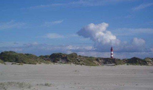 Kniep-Sandstrand mit Leuchtturm