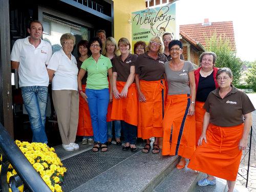 Sonja Schmidt (4. von links) mit Team