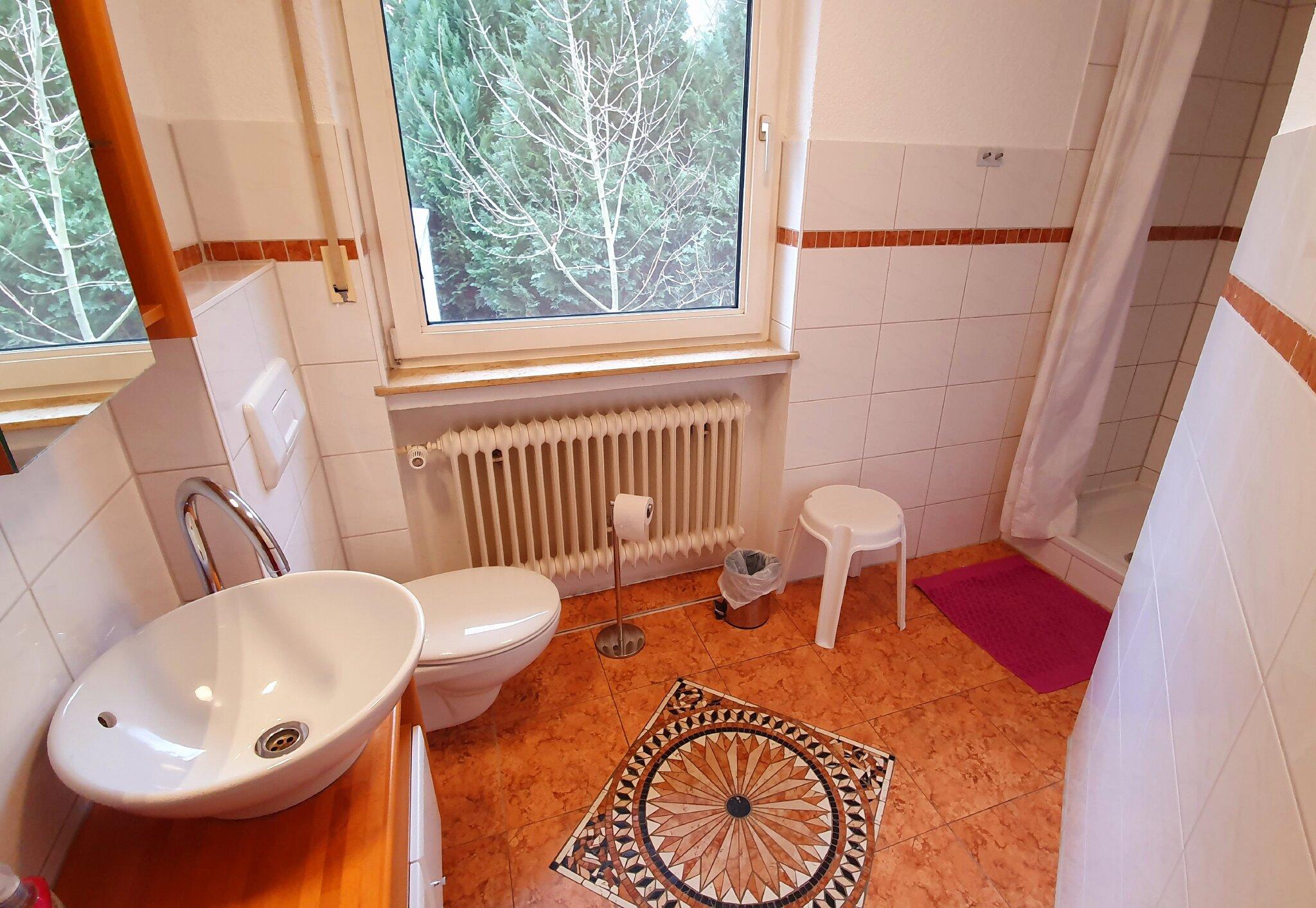 Zimmer 'Hörnchen' mit Waschplatz