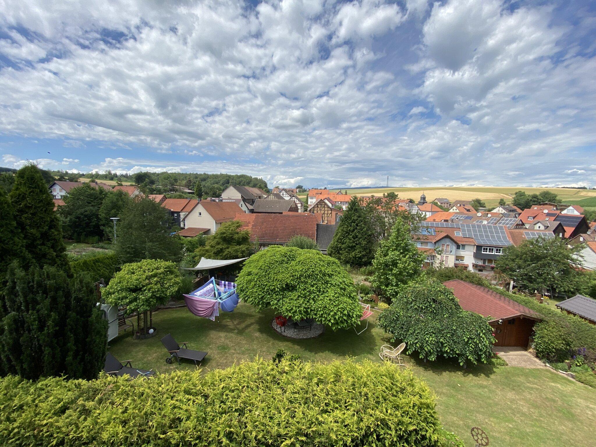 Blick auf unser Dorf