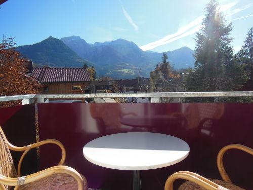 Blick v. Balkon auf Kehlstein u. G�ll