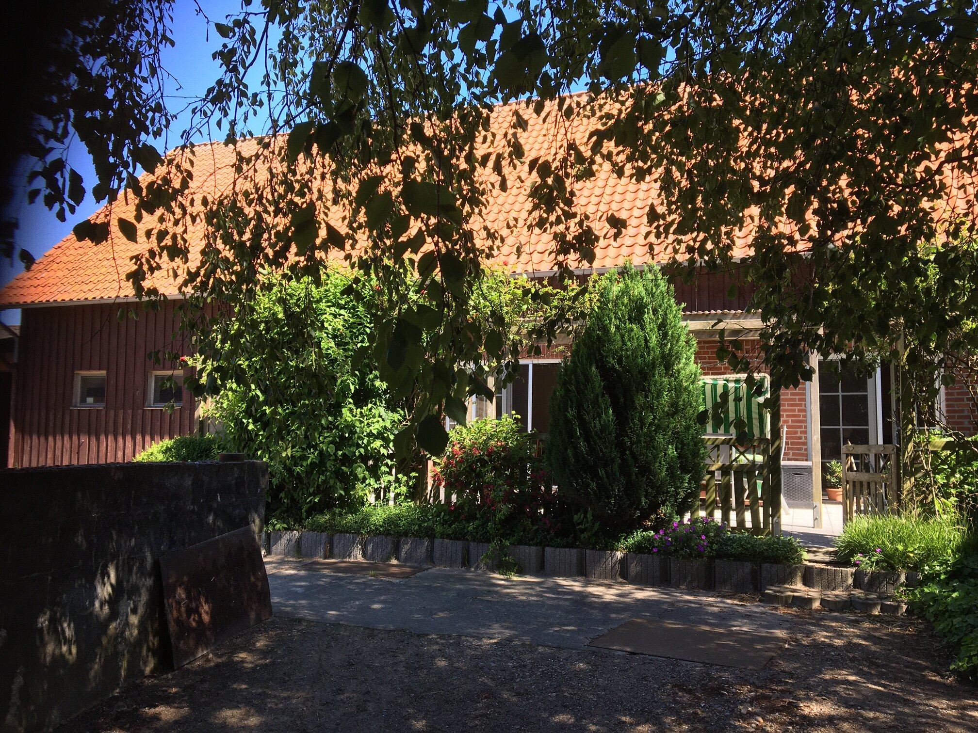 Bauerngarten mit Gemüsebeeten