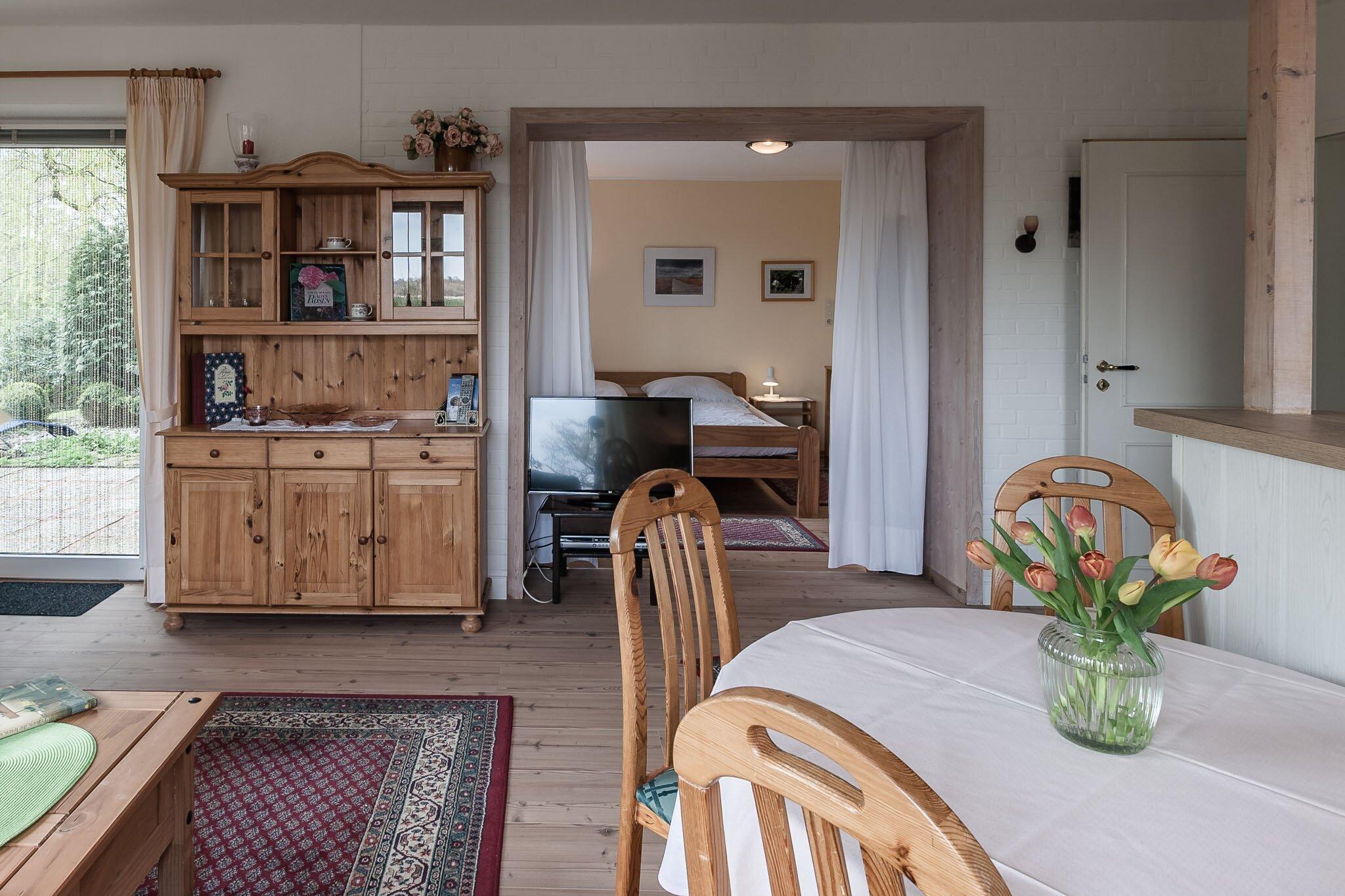 Schlafzimmer mit dem Doppelbett