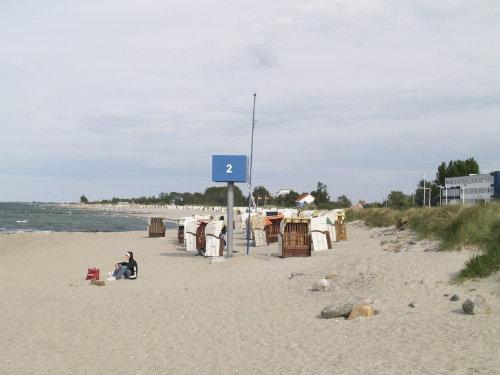 der Strand vor dem Haus
