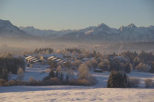 Feriendorf im Winter