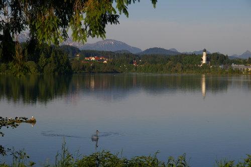 Blick auf Lechbruck mit Lechsee