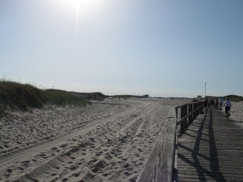 Strand von St Peter-Ording in Juli