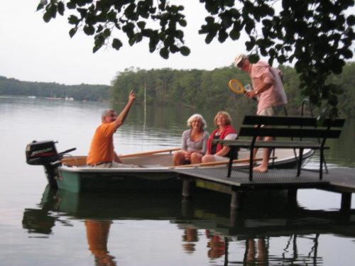 Bootpartie vom eigenen Steeg