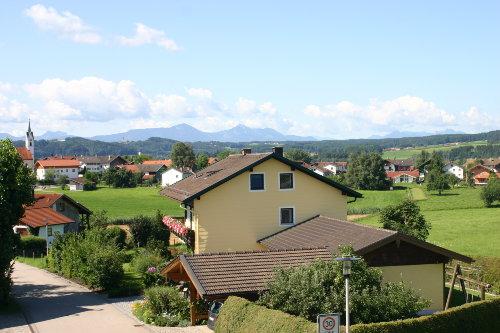 Rückansicht mit Chiemgauer Alpen
