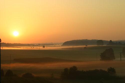 Sonnenaufgang in Tettenhausen