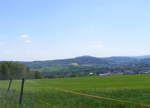 Blick �ber Fl�ha und zur Augustusburg