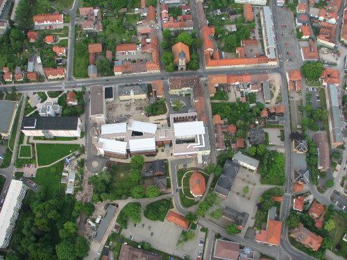 Luftbild vom Ballon aus
