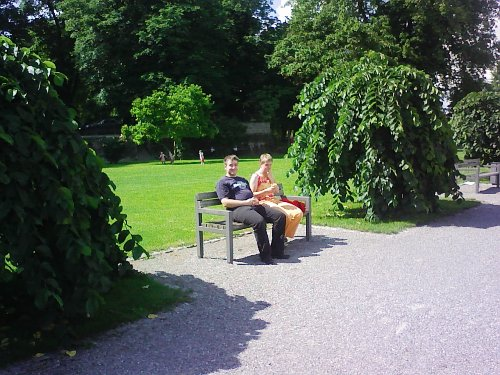 statt Balkon: Picknick am See beim Haus