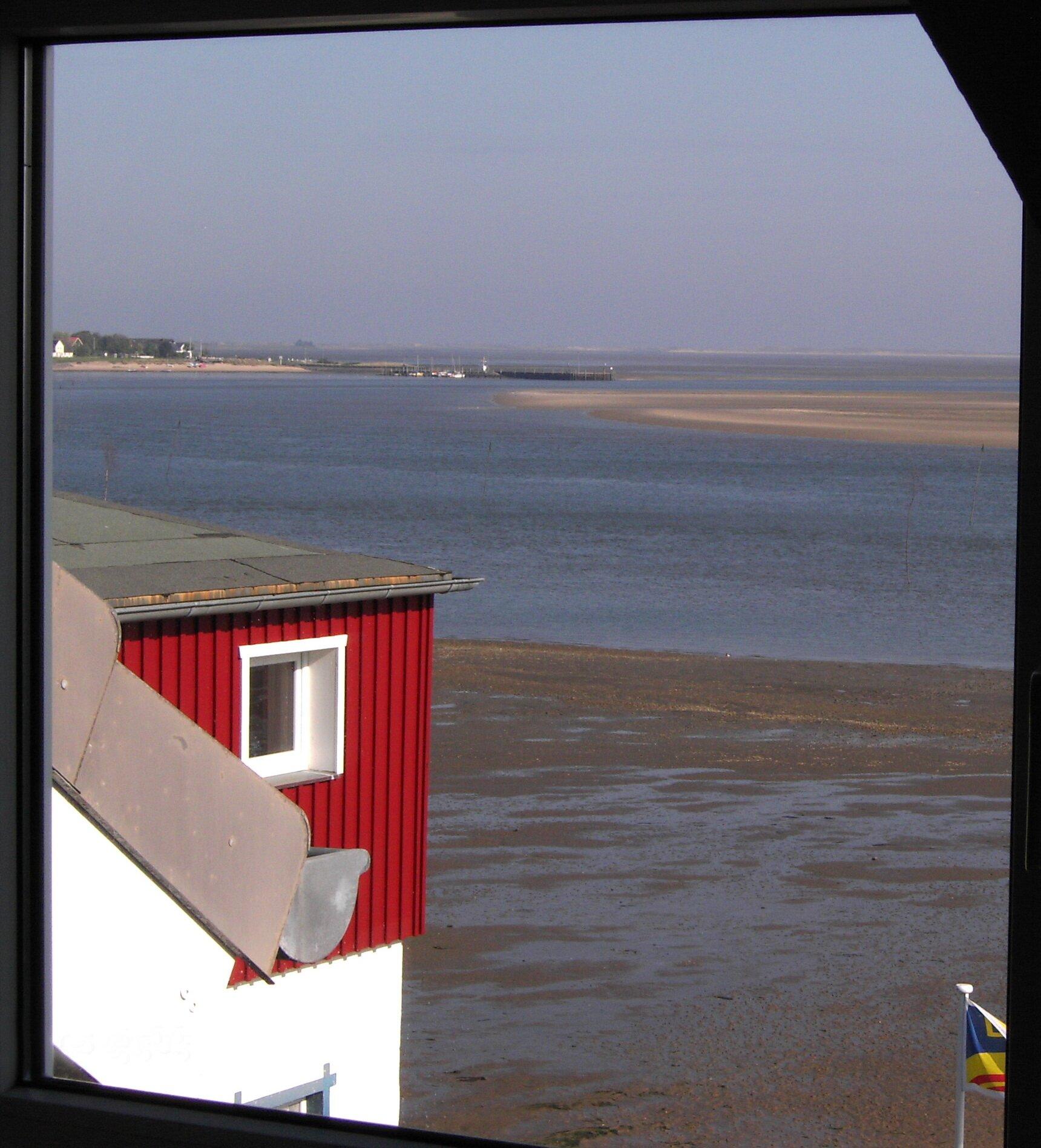 Wohnzimmer, Ausblick auf das Wattenmeer