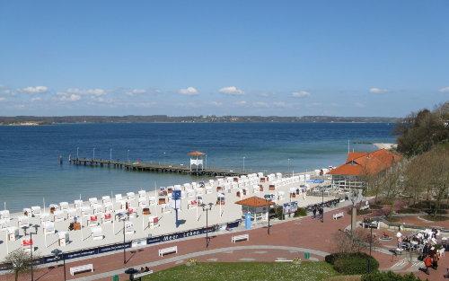 Blick vom Eckbalkon über die Ostsee