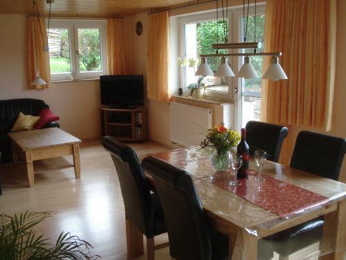 Wohn/Esszimmerbereich mit TV