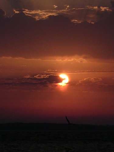 Sonnenuntergang am Strand von Stein