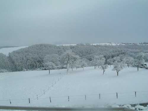 Aussicht von der Terrasse im Winter