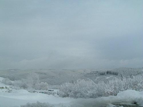 Aussicht aus der Ferienwohnung im Winter
