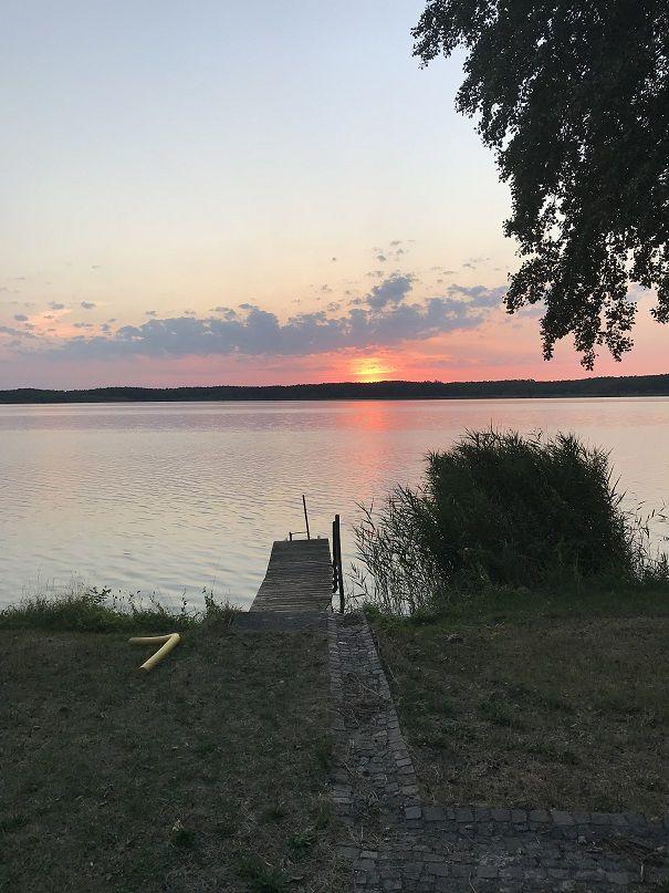 Blick vom Grundst�ck Richtung See