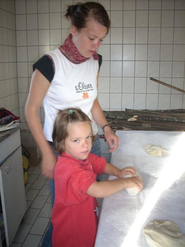 Brot backen f�r Kinder