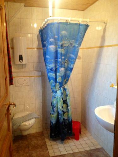 Dusche/WC - Fußbodenheizung, Föhn