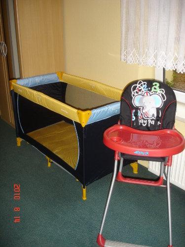 Das neue Kinderbett+Hochstuhl