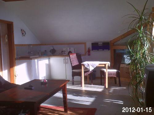 Küchenzeile mit Induktion u. Sitzecke