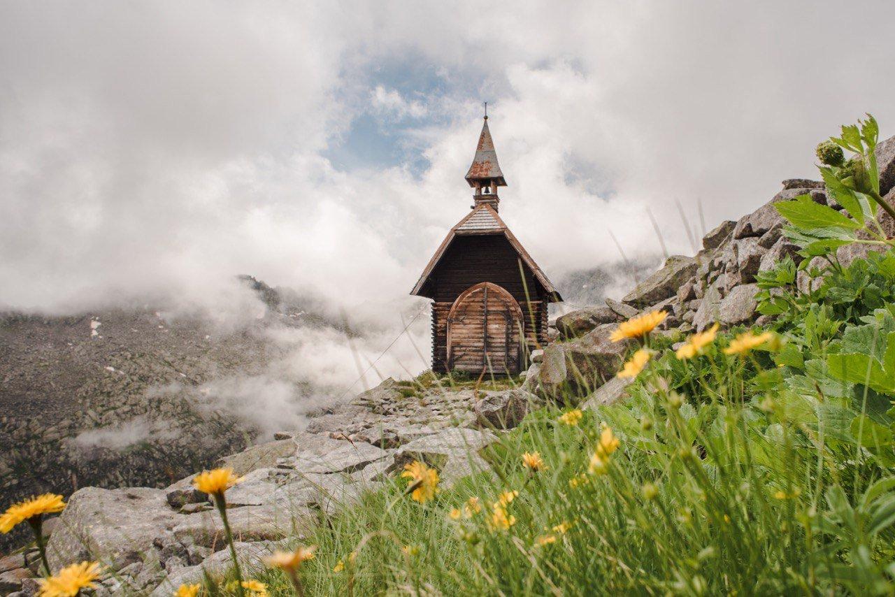 Im August auf dem Carè Alto Berg